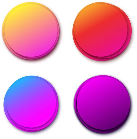 Set of round colorful shapes for text. Abstract circles design bubbles. Vector illustration. Stockfoto - 131216661