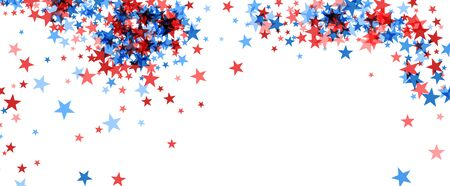 American patriotic holiday stars frame