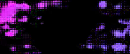 Abstract violet halftone dotted stain. Vector illustration.