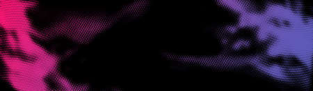 Abstract pink and violet halftone dotted stain. Vector illustration. Ilustração