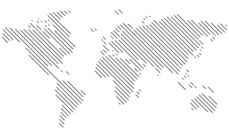 Vector - World map Lines, diagonal - Icon, Symbol, Pictogram