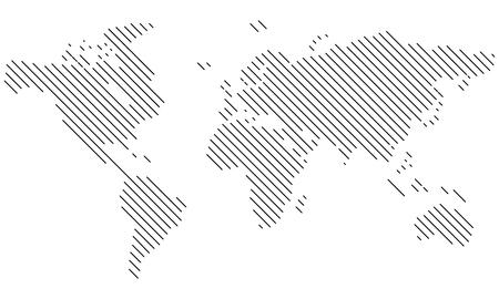 Vector - World map Lines, diagonal - Icon, Symbol, Pictogram