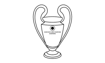 piktogramm: Pictogram - Champions League Trophy - Piktogramm - Pokal, Henkelpott Stock Photo