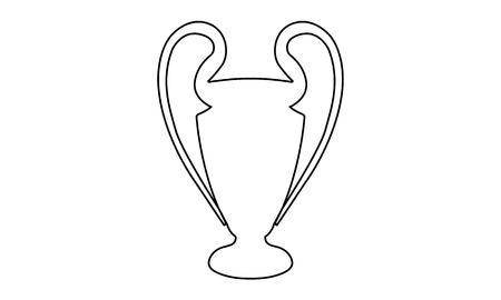 piktogramm: Pictogram - International Soccer League Trophy Outline Contour - Piktogramm - Pokal, Henkelpott
