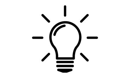 electric bulb: Pictogram - Bulb, Idea, Light bulb, Lamp, Electric bulb - Object, Icon, Symbol Stock Photo