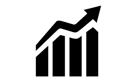 sustained: Pictogram - Growth Increase Expansion Diagram Graph Chart Scale Statistic - Object Icon Symbol