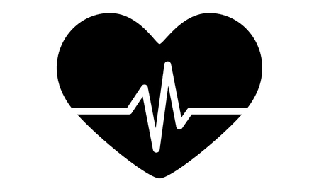 healthfulness: Pictogram - Heart Health Love Heart beat Good health Healthiness - Object Icon Symbol