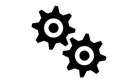 rackwheel: Pictogram - Gear Gear wheel Gear-wheel Rack-wheel Mesh Interlock - Object Icon Symbol Stock Photo