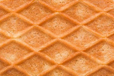 structure sweet waffle closeup with diamond pattern