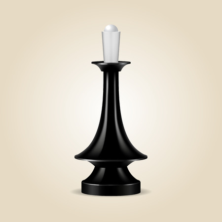 Chess piece black queen isolated, look like realistic, vector illustration Illustration