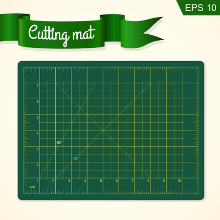 Cutting mat for quilting, patchwork and craft, vector illustration