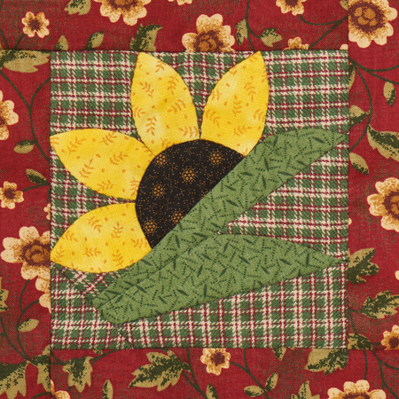 Patchwork block the sunflower in rustic style