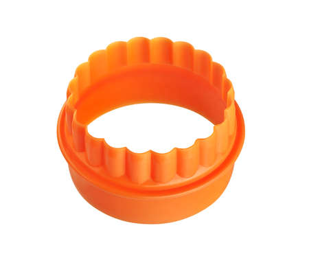 Two-sided orange round cookie cutter, cut out Stock fotó