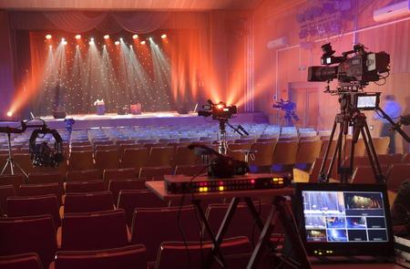 Cámara de vídeo digital profesional. accesorios para cámaras de video de 4K. Foto de archivo - 66332286