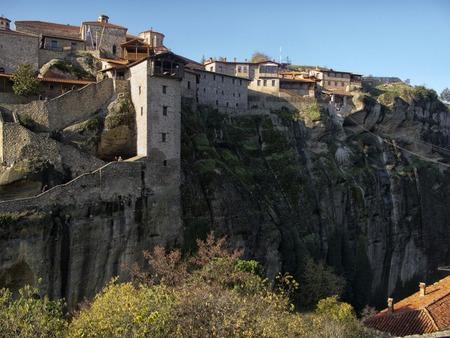 monasteri: Orthodox monasteries Meteora, Kalambaka, Greece. Archivio Fotografico