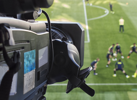 TV at the soccer