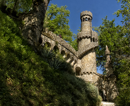 A palace and park complex Quinta da Regaleira not far from Sintra, Portugal.