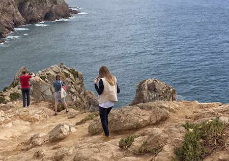 The cliffs of Cabo da Roca, Portugal. The westernmost point of Europe.