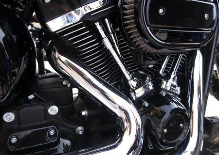 Motorcycle engine,detail of motorcycle engine.
