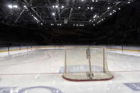 Ice Hockey Game hockey goals, coaching the goalkeeper.