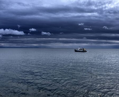 Lake Baikal. Ships come in a beautiful quiet cove for an overnight stay and fishing.