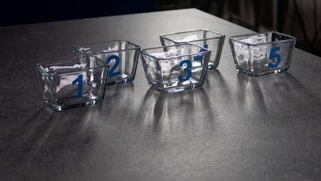 modern shiny glassware close up Standard-Bild