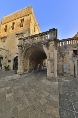 Lecce - a glimpse of the old town photo