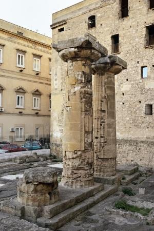 doric: Taranto - Doric columns Stock Photo