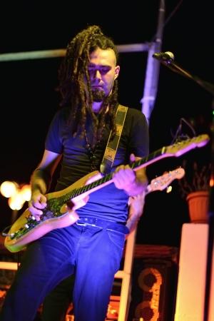 lighting effects musician: Rock guitarist
