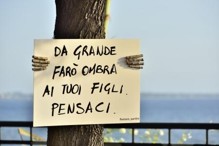 cartel: Environmental awareness - Taranto