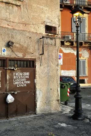 glimpse: Taranto - a glimpse of the old town Stock Photo
