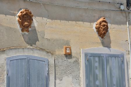 anforas: Grottaglie TA - final del distrito de la cer?ca Foto de archivo
