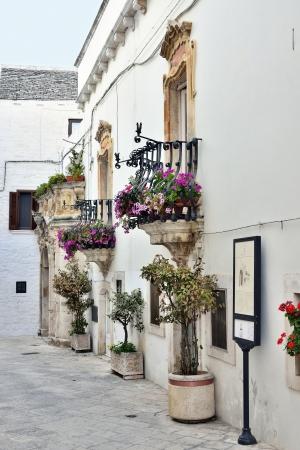 messa: Locorotondo BA - view of the old town