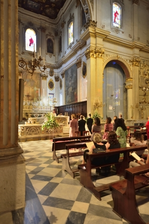 friezes: Lecce - interior of the Cathedral of St  Oronzo