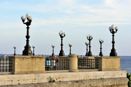 Taranto - the roundabout on the seafront Stock Photo - 15335591