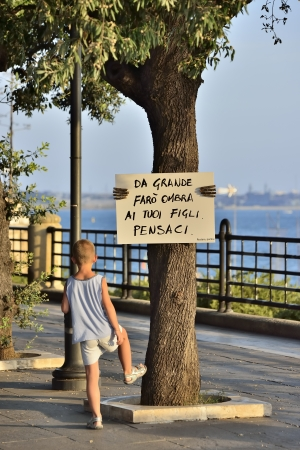 cartel: Message to protection of the environment - Taranto