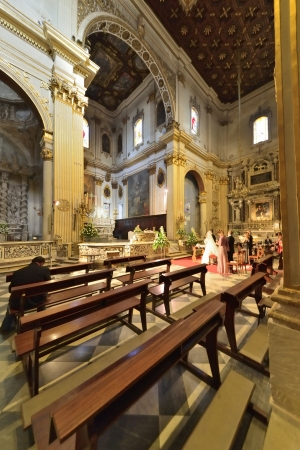 Lecce - inside the Cathedral of Sant Oronzo