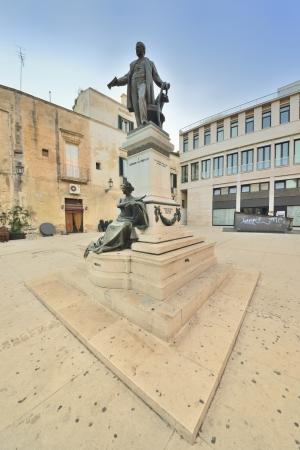 friezes: Lecce - monument to Sigismondo Castromediano Stock Photo