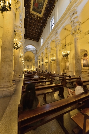 Lecce - inside the Church of the Holy Cross