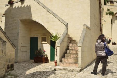 Matera - Sassi between Tourists