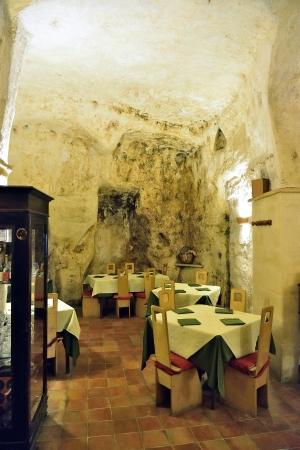 Matera - Sassi in a restaurant