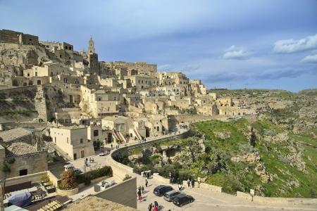 sassi: The Sassi of Matera - panoramic view Stock Photo