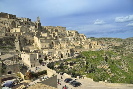 The Sassi of Matera - panoramic view Imagens