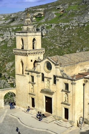Matera - the Church of San Pietro Caveoso