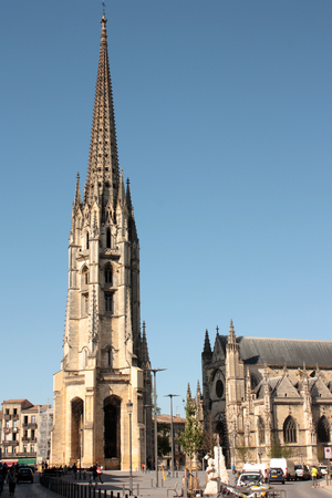 ballad: Bordeaux, France - Cathedral downtown Editorial