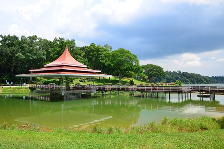 reservoir: MacRitchie Reservoir in Singapore Stock Photo