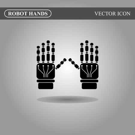 cybernetics: Robot hands icon concept