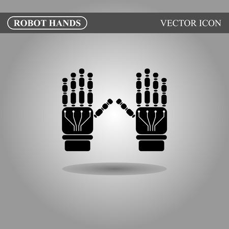 cybernetics: Robot hands icon concept