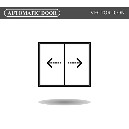 way of living: Automatic door icon, auto open sign
