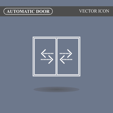 automatic: Automatic door icon, auto open sign
